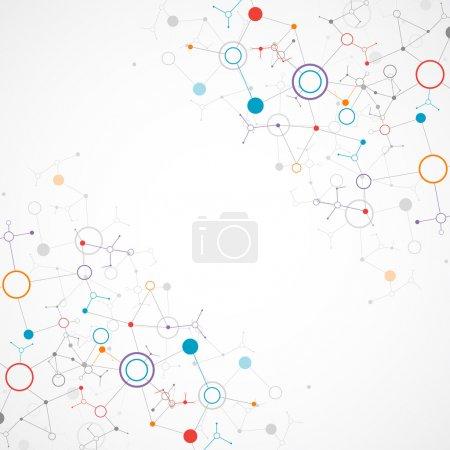 Illustration for Network color technology communication background - Royalty Free Image