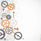 Abstract technology background Cog wheel theme