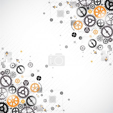 Illustration for Abstract technology background. Cog wheel theme - Royalty Free Image