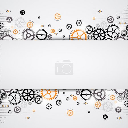 Photo for Abstract technology background. Cog wheel theme - Royalty Free Image