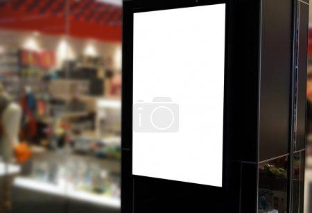 Photo pour Écran d'affichage intérieur au magasin . - image libre de droit