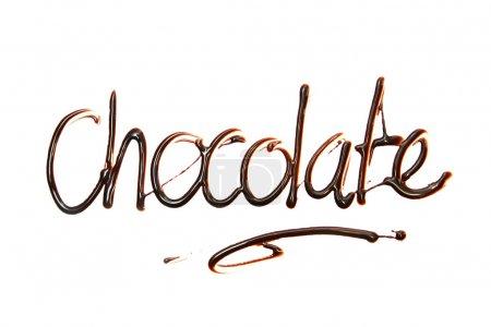 Photo pour Chocolat Juste pour vous texte en élément de conception de chocolat . - image libre de droit