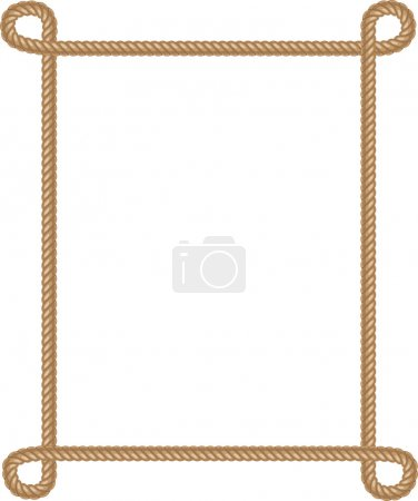 Illustration for Vector Rope Border on white - Royalty Free Image