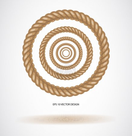 Illustration for Circle rope illustration vector. - Royalty Free Image