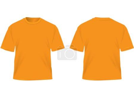 Photo pour T-shirt homme orange isolé sur blanc . - image libre de droit