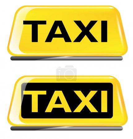 Illustration pour Panneau de taxi sur fond blanc. vecteur eps 10 - image libre de droit