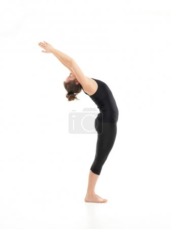 Difficult yoga pose demonostration