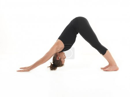 stretching yoga posture