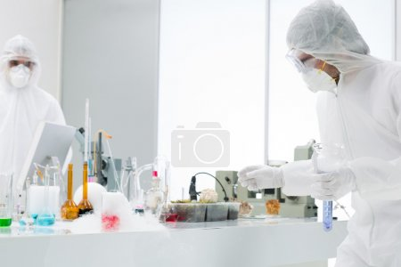 scientists working in a chemistry laboratory