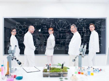 Researcher team in laboratory