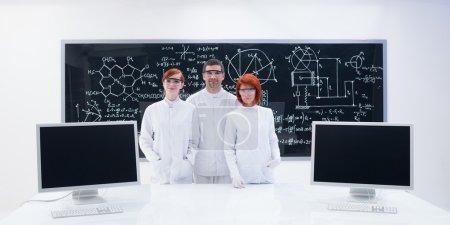in chemistry lab