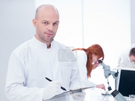 scientist in a chemistry lab
