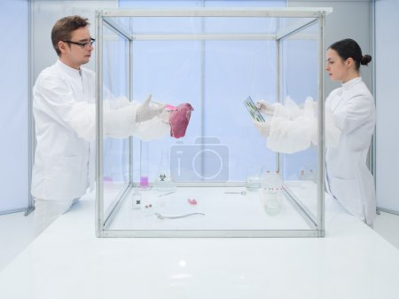 Analyzing biological matter in sterile chamber