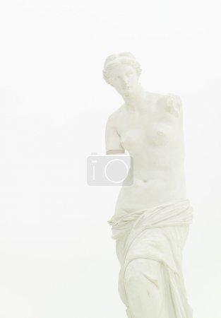 Photo pour Vue recadrée de réplique de la Vénus de milo, isolée sur blanc - image libre de droit