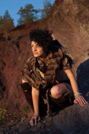 Exotic cavewoman hunting