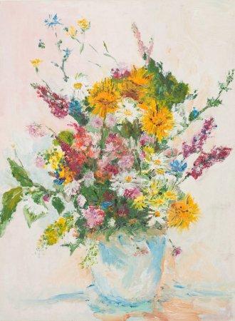 beautiful flower bouquet, oil painting