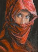 portrait of beautiful arabian woman in hijab