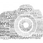 Typographic SLR camera. Photography and digital ph...