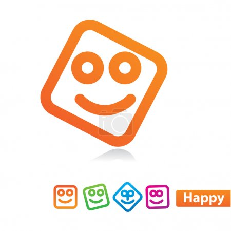 Illustration for Happy - Smile Icon Set. Vector concept - Royalty Free Image