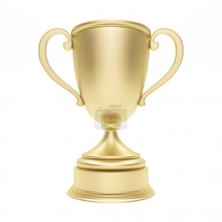 Trophy cup on white