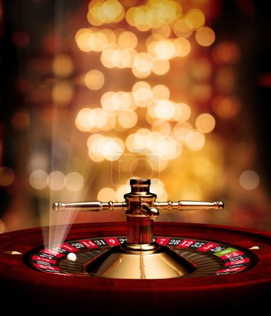 Casino Roulette soft background poster with rays