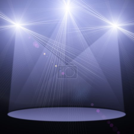 Photo for Ilustration of concert spot lighting over dark background - Royalty Free Image