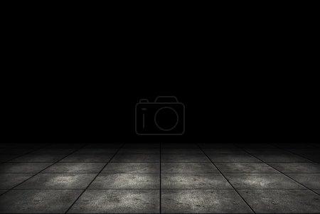 Foto de Cuarto oscuro con fondo de azulejo de piso - Imagen libre de derechos