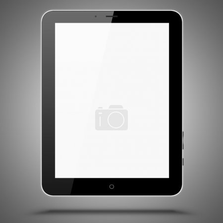 Photo for A tablet computer on grey background, Ipade-like tablet pc - Royalty Free Image