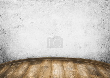 Photo for Room interior vintage wall, wood floor background - Royalty Free Image