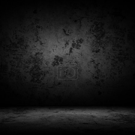 Photo for Dark room with tile floor and wall background - Royalty Free Image
