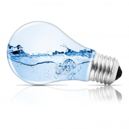 Photo for Lightbulb with water inside. Abstract concept - Royalty Free Image