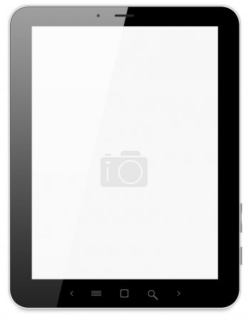 Black abstract tablet pc