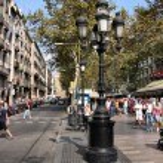 BARCELONA, SPAIN - SEPTEMBER 13: Tourists stroll f...