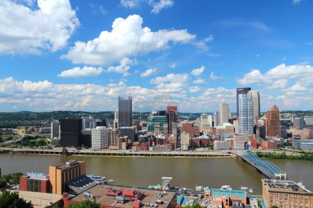Skyline with Monongahela River.