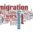 Immigration issues and concepts word cloud illustr...