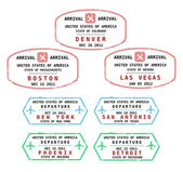 USA vector stamps