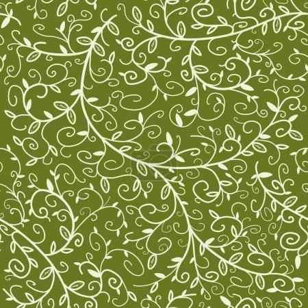 Illustration pour Texture florale sans couture. Contexte motif végétal orné répétitif . - image libre de droit