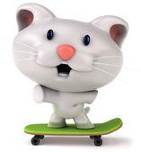 Zábavné kočky na skateboard