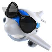 Zábava letadlo v sluneční brýle