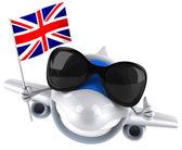 Letadlo s vlajkou Velké Británie