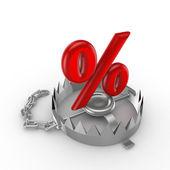 Symbol procenta na past