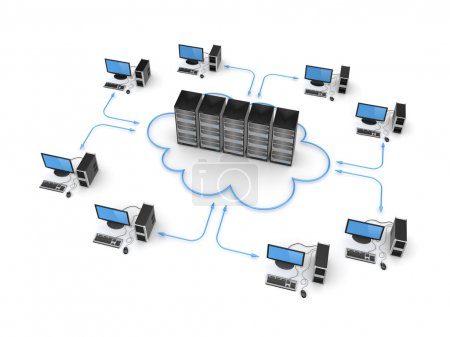 Cloud computing concept.