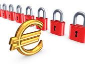 Barevné zámky a znak eura