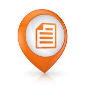 GPS ikona se symbolem Poznámkový blok
