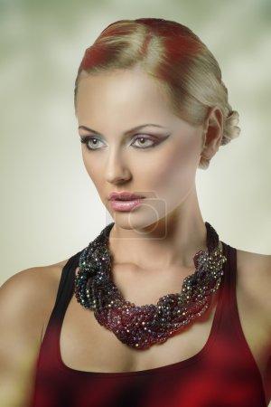 close-up of fashion sexy female