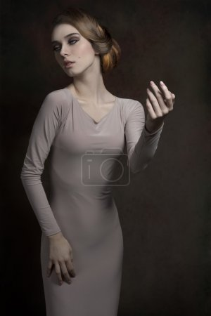 woman with elegant fashion style