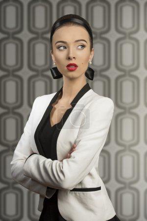 fashion girl with elegant jacket