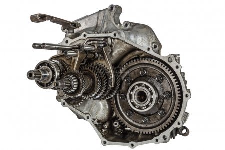 Transmission gears, isolated on a white background, with clippin