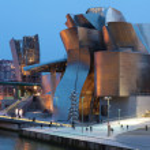 Guggenheim Museum of contemporary Art in Bilbao at...