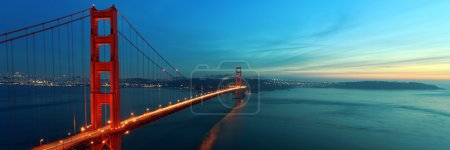 Photo for Golden Gate at night - Royalty Free Image